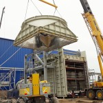 The diverter damper, guillotine, stack and steel structure have completed their assembly downstream an SGT5-2000E Siemens turbine